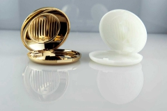 Electro-plated-plastic-finishes-Cosmetics-and-Perfumery-Powder-compact