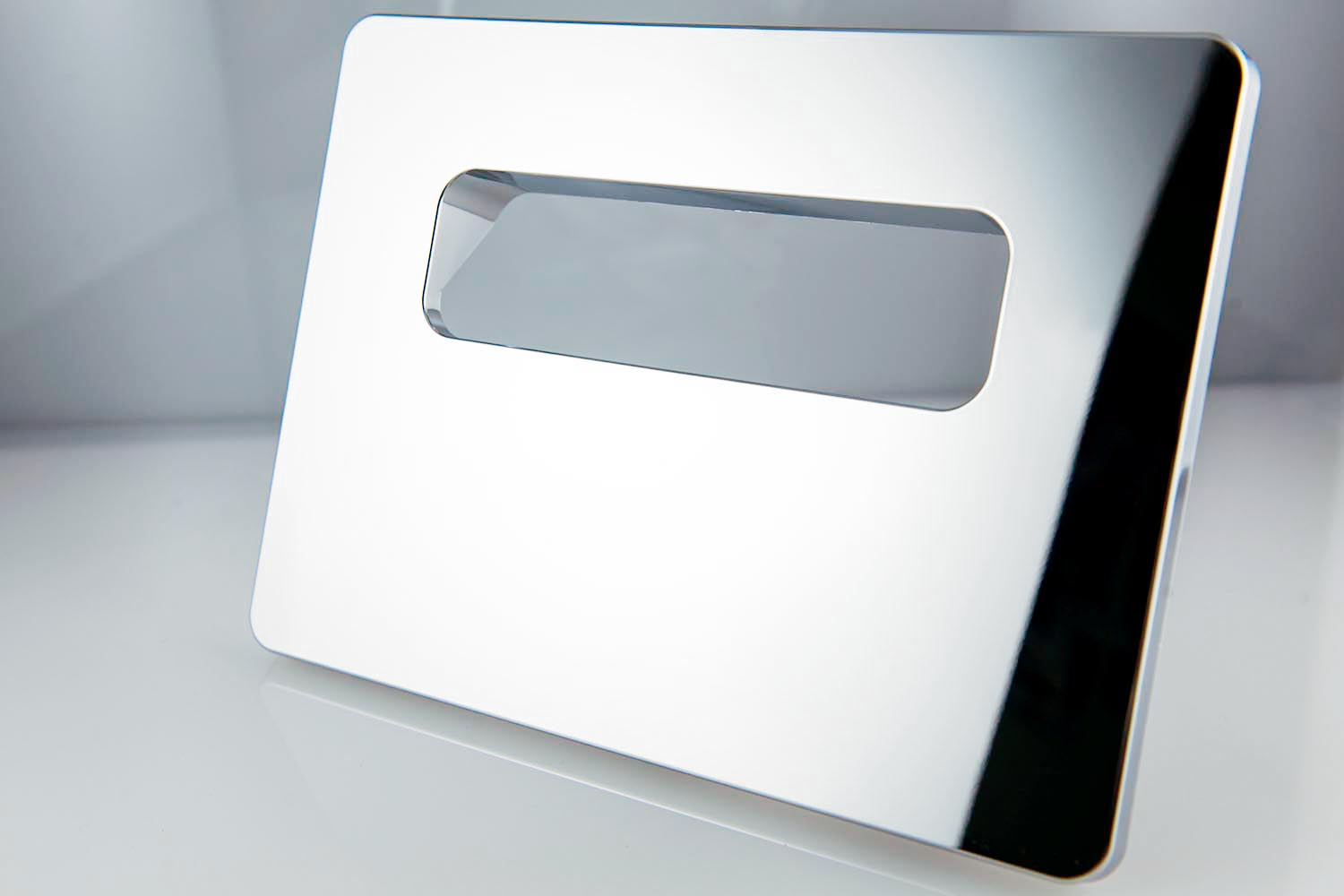 Electro-plated-plastic-finishes-Sanitary-fittings-WC-wall-plate